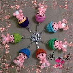 Padrão da chave do bebê amigurumi livre - / Pattern free amigurumi baby key -