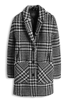 Esprit - Coat oversize plaid mixed with wool