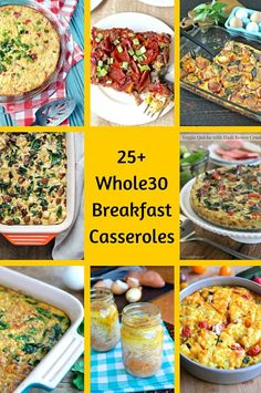 25+ Whole30 Breakfast Casseroles. The perfect paleo start to your day!