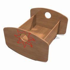 meubles en bois pour poup e ou animaux lit simple en bois. Black Bedroom Furniture Sets. Home Design Ideas