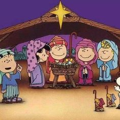 Christmas - Charlie Brown & The Peanuts Gang - Manger Scene Peanuts Christmas, Charlie Brown Christmas, Charlie Brown And Snoopy, Christmas Nativity, Christmas Fun, Vintage Christmas, Christmas Carol, Peanuts Cartoon, Peanuts Snoopy