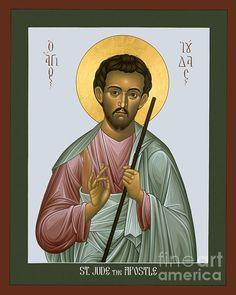 Jude the Apostle century) Religious Icons, Religious Art, Jude The Apostle, Prayer Corner, Social Themes, 1st Century, Icon Collection, Art Icon, Orthodox Icons