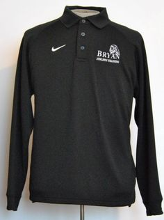 Nike Shirt M Mens Polo Rugby Long Sleeve Black Solid 100% Polyester  #Nike #PoloRugby free shipping Buy Now  $16.99