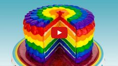 This is the perfect opportunity to impress everyone with your baking skills with this easy-to-follow recipe for a beautiful rainbow cake.