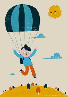 Ben Javens  #illustration #parachute