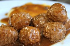 CROCK POT SWEDISH MEATBALLS 2 1/2 lbs frozen meatballs 1 can cream of mushroom soup 1 golden mushroom soup 1 can beef broth 1 envelope brown gravy mix 1/2 c. water 1. Mix everything except meatballs together. Pour into crock pot. Add meatballs 2. Cook on low for 6 hours.