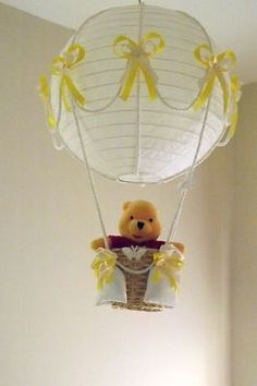 Hot Air Balloon Lamp/light shade with Winnie the Pooh,