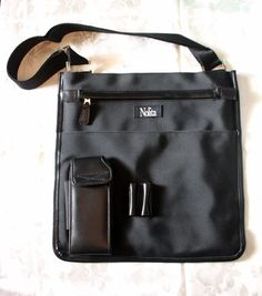 Nolita crossbody messenger bag with slim silhouette in black PVC with  adjustable shoulder strap - perfect b3dd5f8c066c2