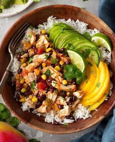 Slow Cooker Mango Salsa Chicken with Coconut Rice  One...