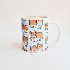 Welsh Corgi modèle tasse | Mug Corgi | Mug mignon | Chiot Mug | Mug chien