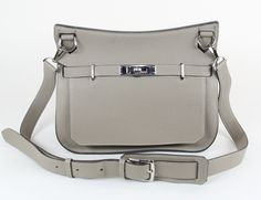 Hermes Jypsiere 34 in Ciel Clemence leather with palladium ...