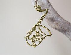 HTF Personalized Handmade Saxophone Ornament/ Custom Saxophone Charm/ Keychain/ Pendant/ Musical Instrument Hanging Accessory/ Wire Artwork