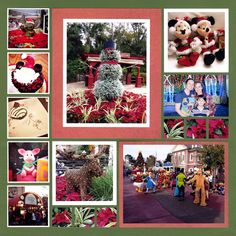 Are you looking for some Christmas scrapbook layouts ideas? If you do, then you have come to the right place. Making a Christmas scrapbook is really g. Christmas Scrapbook Layouts, Disney Scrapbook Pages, Scrapbooking, Holiday Photos, Holiday Fun, Disney World Christmas, Christmas Collage, Square Patterns, Holiday Activities