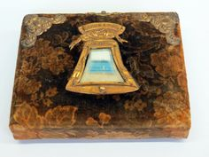 Victorian Good Luck Photo Album Liberty Bell Mirror Velvet Ornate Hardware with CDVs by KentonCollectibles on Etsy