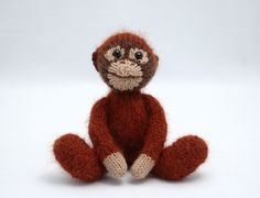 modified my monkey pattern to make this sweet and fuzzy fellow