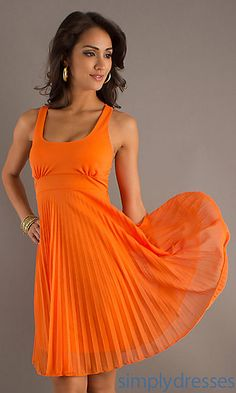 Short Pleated Semi Formal Dress at SimplyDresses.com