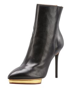 Debora Zip-Back Platform Ankle Boot by Charlotte Olympia at Bergdorf Goodman. $1045