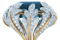 Tiffany Blue and Diamond Ring by Jean Schlumberger