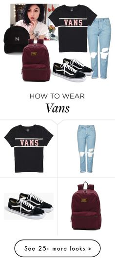 """""""Sem título #298"""" by itsarafa on Polyvore featuring Topshop, Vans, New Black and J.Crew"""