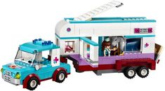 LEGO Friends Horse Vet Trailer 41125 Toy for Girls and Boys in Building Sets. Cool Lego, Cool Toys, Awesome Lego, Legos, Toys For Girls, Kids Toys, Lego Friends Sets, Trailer Build, Christmas Toys