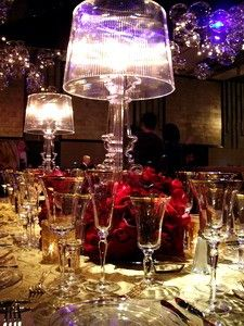 clear lamp centerpieces