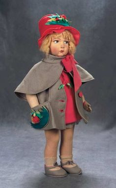 The Great Man's Doll: 104 Italian Cloth Character Girl in Original Costume by Lenci