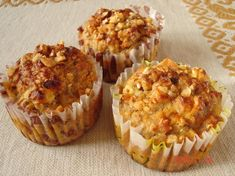 zabpelyhes almás muffin Diabetic Recipes, Diet Recipes, Healthy Recipes, Winter Food, Cookie Recipes, Healthy Life, Food And Drink, Sweets, Baking