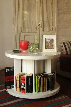 Mesas auxiliares hechas con bobinas de cable http://www.icono-interiorismo.blogspot.com.es/2015/11/mesas-auxiliares-hechas-con-bobinas-de.html