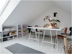 Swedish-Home-2.jpg (930×698) | The best attic home design ideas! See more inspiring images on our boards at: http://www.pinterest.com/homedsgnideas/attic-home-design-ideas/
