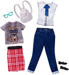 Mattel Barbie Fashions Geek Chic 2 Pack - Curvy for sale online Mattel Barbie, Moda Barbie, Barbie Sets, Barbie Dolls, Barbie Doll Accessories, Doll Clothes Barbie, Barbie Outfits, Barbie Fashionista, Ken Doll