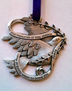 Memorial Holiday Pewter Ornament: Dove of Peace