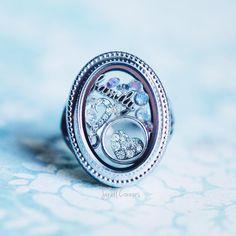 Locket Ring #origamiowl #jewelry #jewellery #sparkle #swarovski #locket #o2 #girlboss #charm #locketring #family #crystal