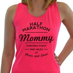 Women's Race Ready Singlet Half Marathon Mommy | Marathon Race Singlets | Marathon Tank Tops | Singlets for Marathoners