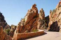Route de piala Corsica Travel, Roads And Streets, Photos Voyages, France Europe, Travel Memories, Mediterranean Sea, Monument Valley, Places Ive Been, Places To Visit