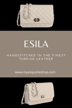 Leather Chain, Leather Bag, Quilted Leather, Smooth Leather, Hand Stitching, Bag Making, Leather Shoulder Bag, Classic Style, Dust Bag