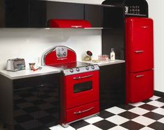 I'd like to one day own all red kitchen appliances.