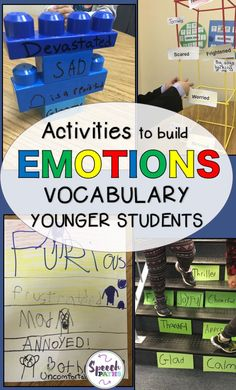 If you work with children who have difficulty expressing their feelings and emotions, check out these fun activities!  Many of my students with autism and emotional regulation issues need direct teaching to learn to identify and express their emotions.  These are easy ideas to use in speech therapy, counseling and at home!  #emotions #socialskills<br>