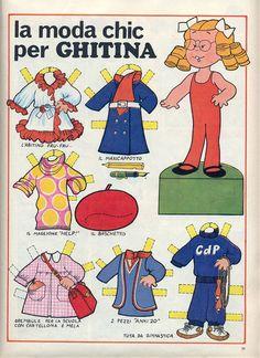 Paper doll. Corrierino e Giornalino: La moda chic per Ghitina