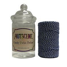 Bosmere K848 Nutscene Candy Twist Cotton Bakers Twine Dark Blue and White * Learn more by visiting the image link.