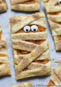 Mummy Pumpkin Cookies - Chocolate Dessert Recipes - OMG Chocolate Desserts