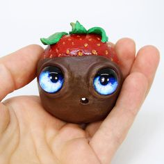 Anthropomorphic Strawberry, Chocolate Covered Strawberry by Jackie Harder