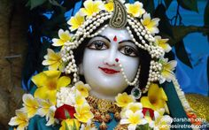 To view Radha Close Up Wallpaper of ISKCON Chowpatty in difference sizes visit - http://harekrishnawallpapers.com/srimati-radharani-close-up-wallpaper-015/
