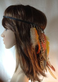 Headband+Hatband+Feathers+Tribal+Hippie+by+BeadazzledBySharon,+$60.00