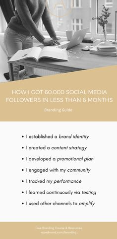 This is how I acquired over 60,000 social media followers in less than 6 months by having a strong brand strategy and content plan  |  more personal branding ideas and tips at ajaedmond.com