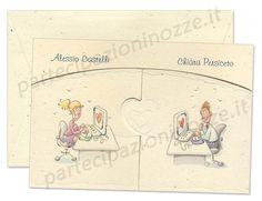 "Art. 95495 - Cartoncino avorio ""coriandoli"" con apertura a finestra e stampa spiritosa."