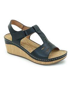 82e8d4201515 Black Cutout T-Strap Sandal - Women