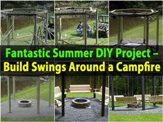 Caption: Fantastic Summer DIY Project – Build Swings Around a Campfire – by Dave Summer is a great time for relaxing outside and what better way to do that than with a porch swing? How about if you had several porch swings all surrounding a campfire – then you could do the relaxing outside thing...