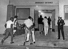 A girl injured in Watts Rebellion is carried into emergency entrance at Oak Park Hospital, August Photo credit: Los Angeles Times Watts Riots, 50 Years Ago, Remember The Time, Oak Park, New Chapter, Black History, Photo Credit, Concert, August 13