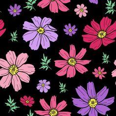 #cosmos flower black_201102_PNSC #KatineArt #Leaves #Fruits&Plants #Florals #black #cosmos #cosmosflower #floral #floralpatern #flower #flowers #green #leaf #leaves #petal #pink #plant #purple #violet #yellow #mydigitex #textiles #textileprint #textileprinting #textiledesign #fashion #fabricstore #thefabricstudio #fabrics #fabricmarket #textilestudio #textileshop #surfacedesign #surfacepattern #surfacepatterndesign #patterns #patternprint #homedecoration #Prints #artwork Textile Prints, Textile Design, Fabric Patterns, Print Patterns, Drugstore Shampoo, Pink Plant, Fruit Plants, Surface Pattern Design, Cosmos