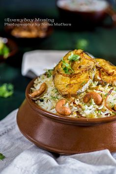Fish Dum Biryani / Rice cooked with Spices and Fish - Whisk Affair